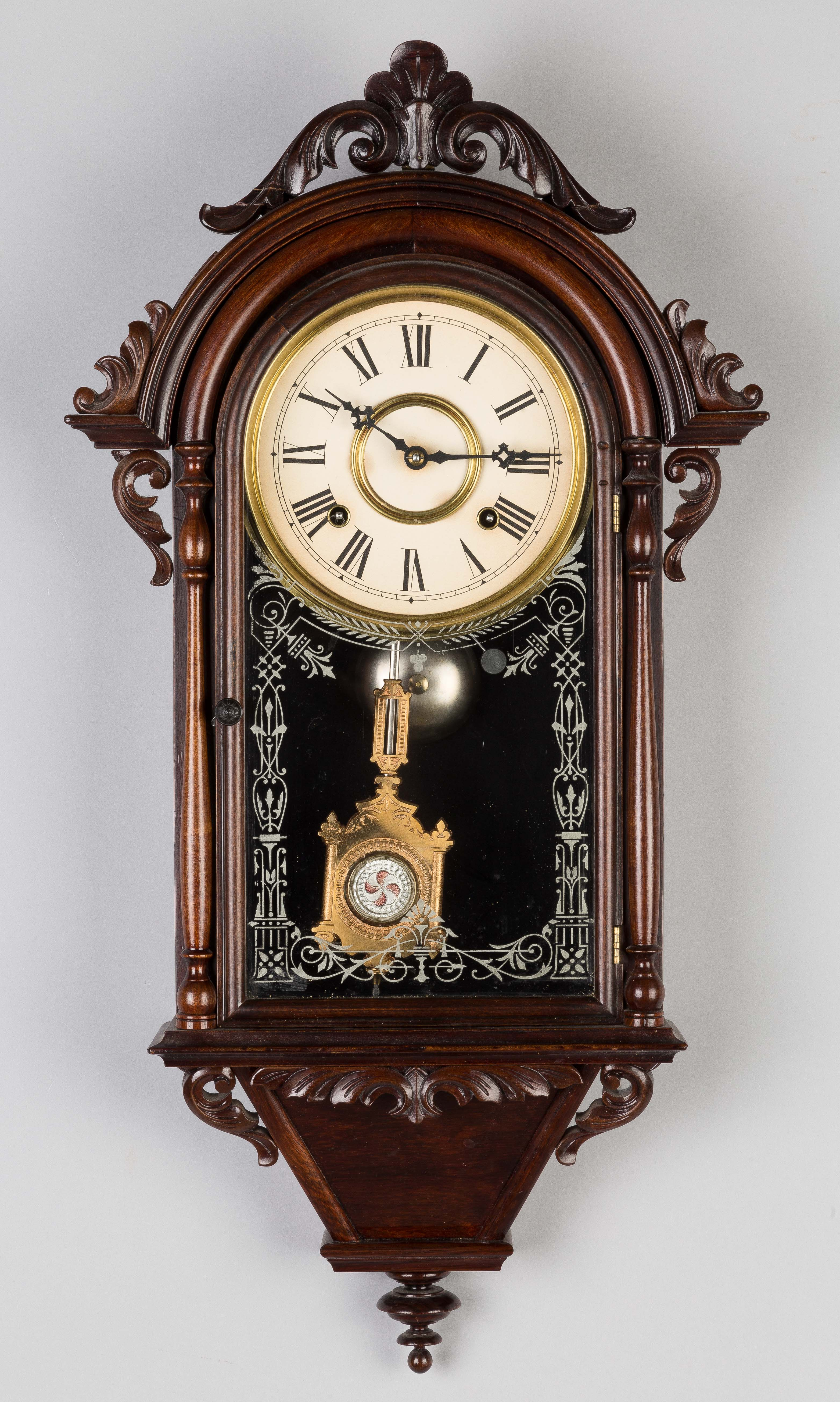 E.N. Welch Hanging Italian Wall Clock | Cottone Auctions