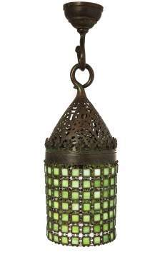 Tiffany Studios Early Moorish Chain Mail Hall Lantern
