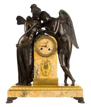 Fine French Cupid and Psyche Shelf Clock