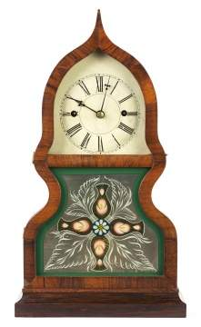 Fine J.C. Brown Acorn Shelf Clock