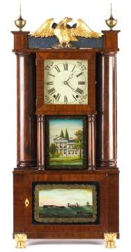 E. and E.G. Bartholomew, Bristol, CT, Hollow Column Shelf Clock