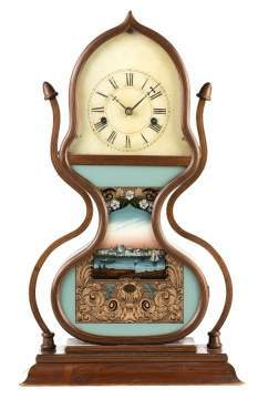 J. C. Brown, Bristol, CT, Acorn Shelf Clock