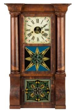 Forestville Manufacturing Co., Bristol, CT, Triple  Decker Shelf Clock
