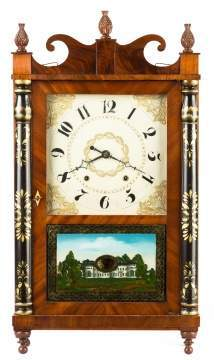 Chauncey Ives, Bristol, CT, Jester Top Shelf Clock