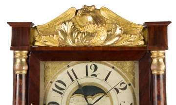 A Fine John Birge, Bristol, CT, Double Decker Shelf Clock