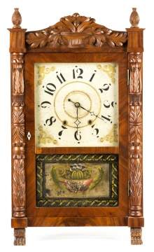 Mark Leavenworth, Waterbury, CT, Carved Case Shelf  Clock