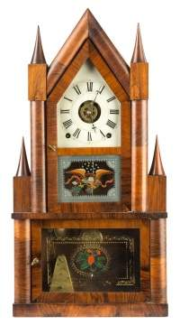 Terry and Andrews, Bristol, CT, Steeple on Steeple Shelf Clock