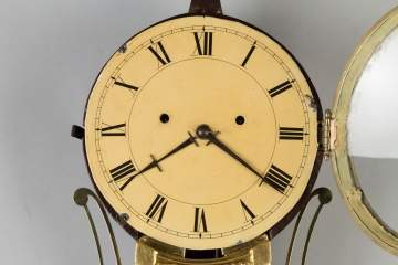 Attributed to J. Billings, Acton, MA, Striking Banjo Clock