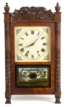 John Conger, Allentown, PA, Carved Shelf Clock