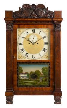 Early Salem Bridge Shelf Clock