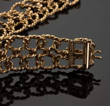 Tiffany Schlumberger 18K Gold Braided Necklace