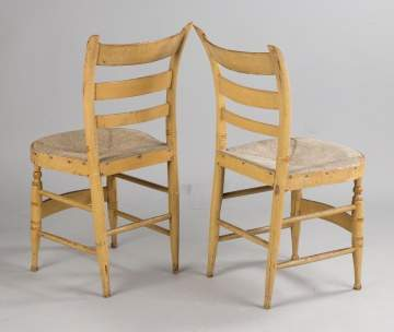Pair of Fancy Sheraton Side Chairs