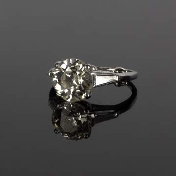3+ ct Solitaire Diamond Ring