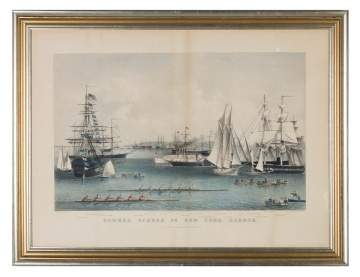 "Currier & Ives ""Summer Scenes in NY Harbor"""