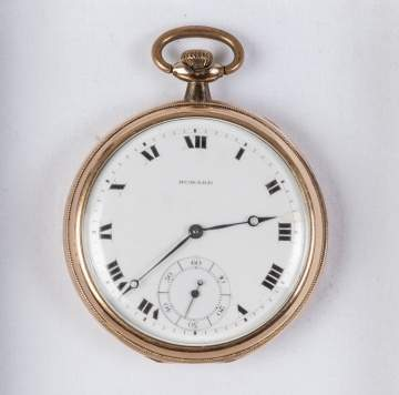 14K Gold Howard Pocket Watch