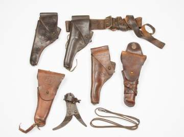 Group American WWI Holsters