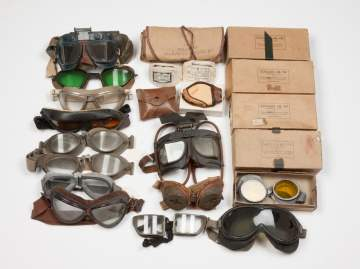 WWII Aviator and Other Goggles