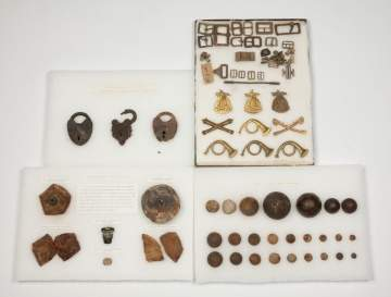 Group Civil War Dug Relics and Insignias