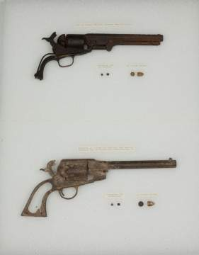 Excavated 1851 Navy Colt and Remington 44 1863 Army Revolver