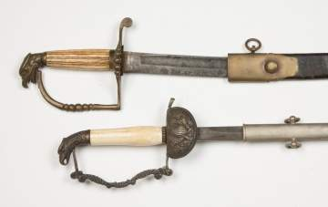 Two US Eagle Head Swords