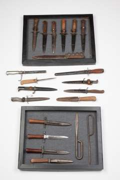 Group Trench Knives