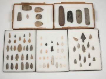 Miscellaneous Native American Stone Implements and Axe