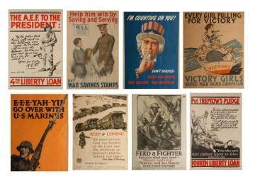 Eight Vintage Posters