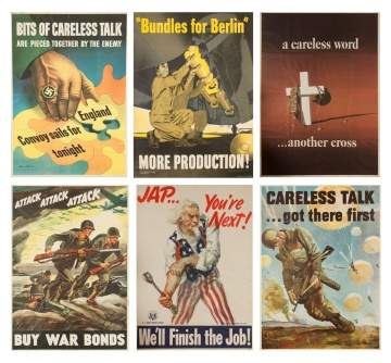 Six Vintage Posters