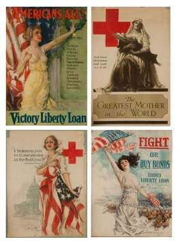 Four Vintage WWI Posters