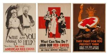 Three Vintage Red Cross Posters