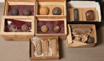 Group of Civil War Projectiles