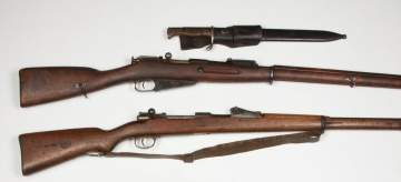 One Mauser and One Moisen-Nagant Rifle
