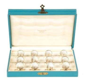 Twelve Tiffany & Co. Sterling Place Card Holders