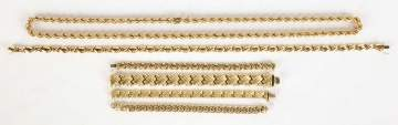 Group of Italian 14K Bracelets and Necklaces