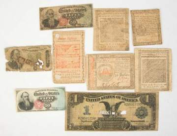 Group Early American Currency