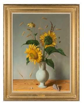 "Fernand Renard (French, born 1912) ""Sunflowers in a Vase"""