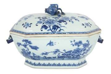 Chinese Export Canton Boar's Head Covered Tureen