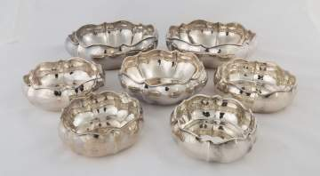 Seven Graduated Buccellati Sterling Silver Hand Hammered Bowls