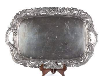 Japanese Sterling Silver Tray