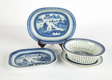 Chinese Export Blue and White Porcelain Canton