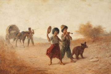 "Fritz Fig (British, 19th century) ""Gypsies on the March"""