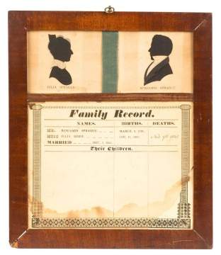 1823 Family Record of Julia & Benjamin Sprague