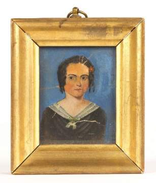 Miniature Watercolor of Young Lady
