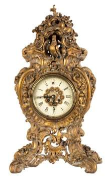 Carved Giltwood French Clock