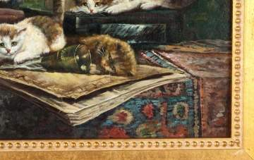 "Cornelis Raaphorst (Dutch, 1875-1954) ""Cats"""