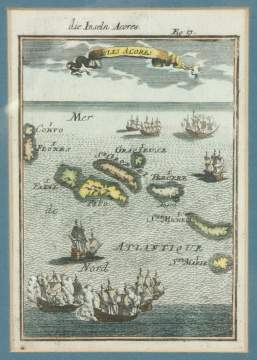 Alain Manesson Mallet (French 1630-1706) Maritime Map