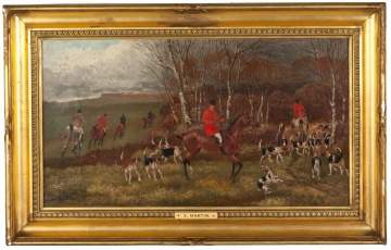 Sylvester Martin (British 1856-1906) Fox Hunt Scene