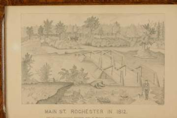 E.Sharrod, Drawing Main St. Rochester, NY 1812