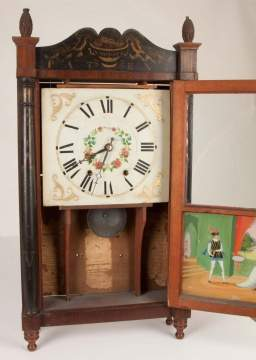 William Leach, Easton, PA, Stenciled Shelf Clock