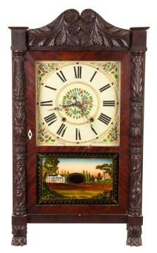 Seth Thomas Carved Column Shelf Clock